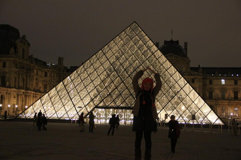 世界一周夫婦 ルーブル美術館