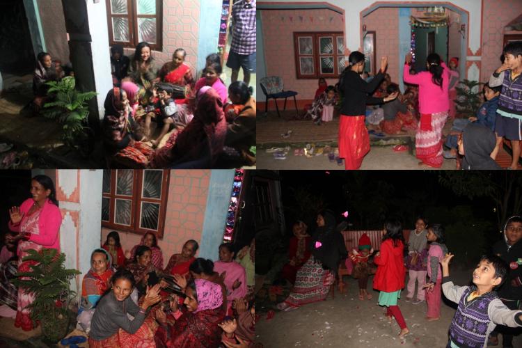 ネパールの村のダンスパーティ